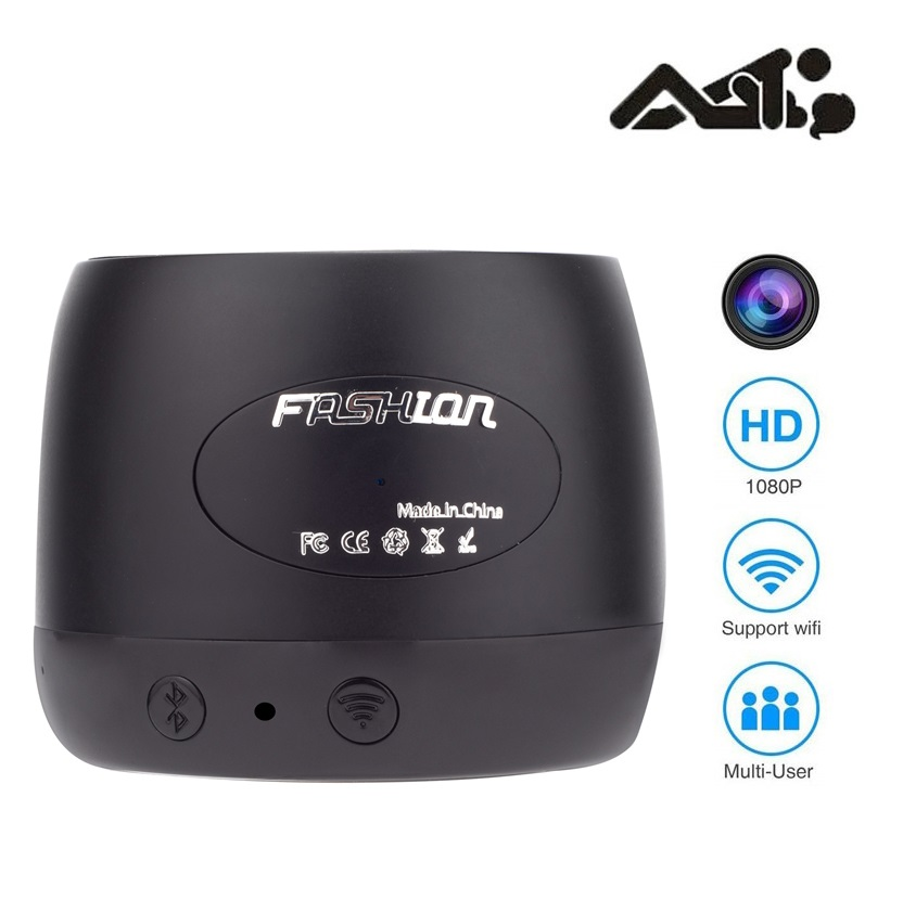 Full HD 1080P WiFI P2P Wireless Spy Camera Bluetooth Speaker – 5 Hours