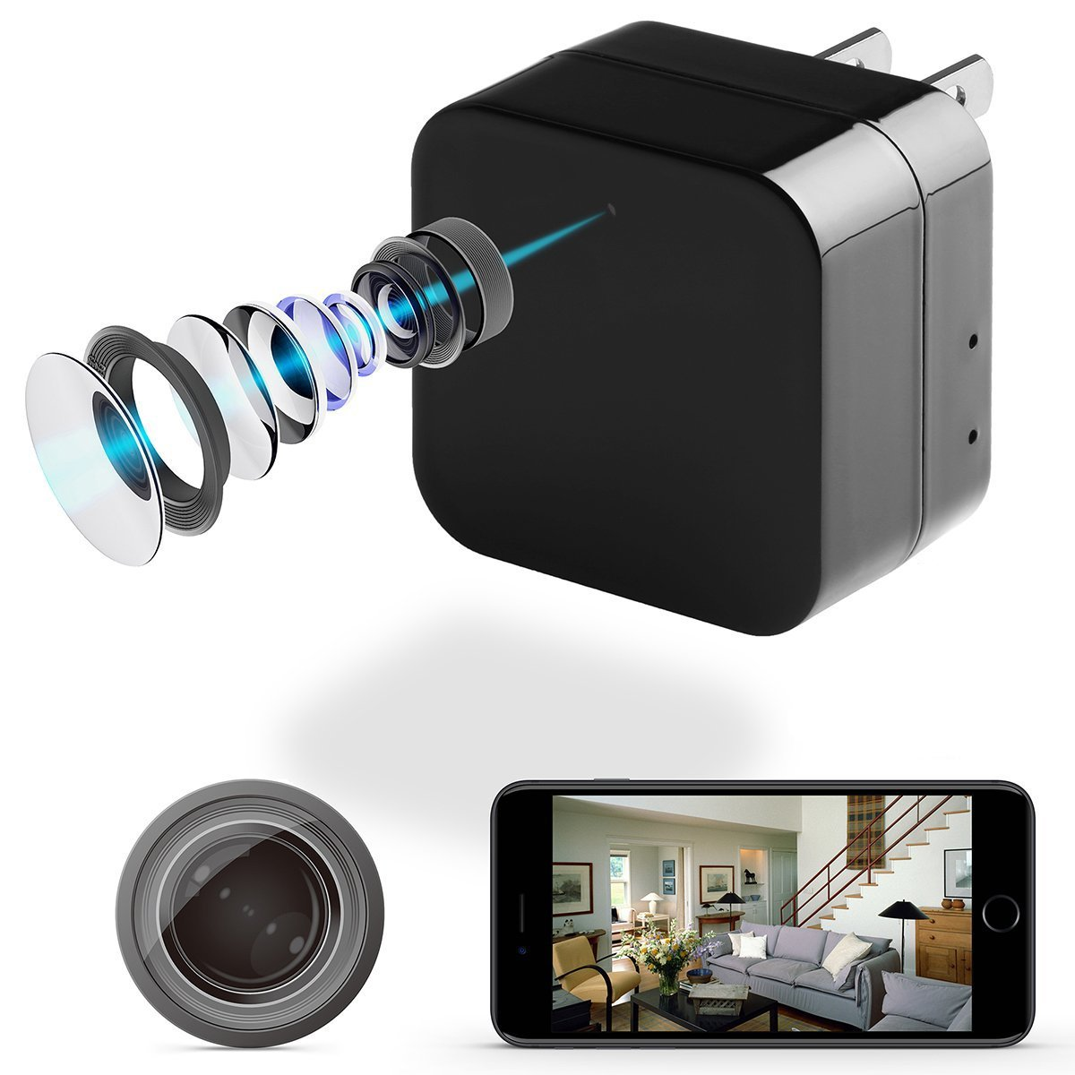 Mini usb Camera HD 1080P Motion Detection WiFi Usb Charging Camera Home Mini Security Camera
