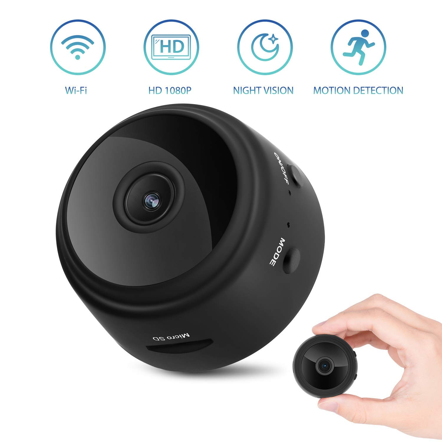 Mini HD 1080P Portable Magnetic WiFi Security DVR Spy Camera Live Stream